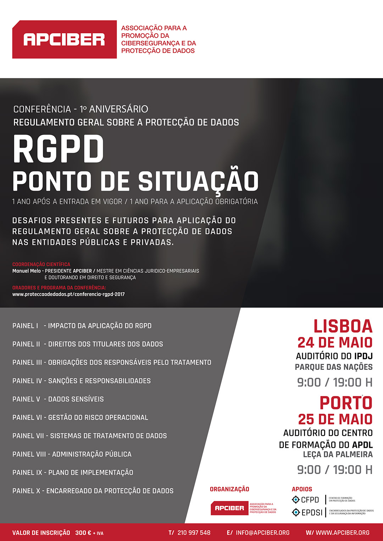 Cartaz - Conferência RGPD - 24 e 25 de Maio de 2017